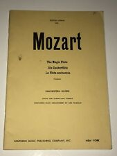 "Mozart Orchestra Score "" The Magic Flute"" 1952 Souther Music Co."