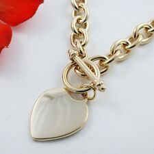 """17"""" 24kt GOLD EP HEART TOGGLE NECKLACE MUST SEE!"""