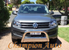 "VW Amarok Nudge bar 3.5"" Stainless Steel 2010 - 2017 +  Spot Light Mounting Tabs"