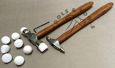 2 Pezzi Nylon Punte Texturing Martello Progettazione Forma Metallo Argento Smith