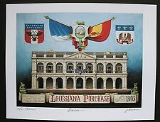 """""""Louisiana Purchase"""" by Jim Blanchard, signed & titled"""