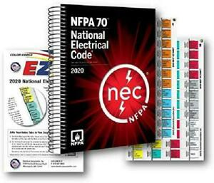 2020 NFPA 70 National Electrical Code NEC Spiralbound With Color Coded EZ Tabs