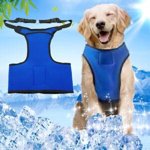 Summer Cooling Dog Harness Soft Mesh Vest Adjustable for Medium Large Dogs Blue