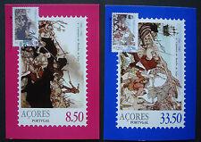 "Azoren-Portugal 1981:Set MK maximum stamp cards first day ""Battle of Salga"""