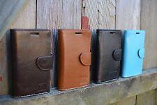 Handmade Samsung S6 Case Genuine Real Leather in Blue, Tan, Dark Brown or Black