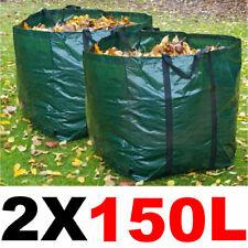 More details for 2 x 150l large garden refuse storage bags sacks for waste handles building sand