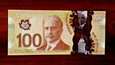 canada 100 dollars gem UNC POLYMER Wilkins Poloz.