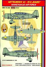 KORA Decals 1/72 MITSUBISHI Ki-15-II BABS MANCHUKUO AIR FORCE