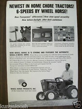 1967 WHEEL HORSE TRACTOR AD