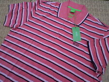 NEW HUGO BOSS DESIGNER BLACK LABEL PINK MENS POLO RUGBY GOLF CLUB BAG T-SHIRT XL