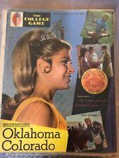 1969 Oklahoma sooners Colorado buffaloes football program free shipping