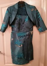 SONIA PENA Green / Aqua Mother of the Bride / Groom Outfit - Size 44 (UK 14 -16)