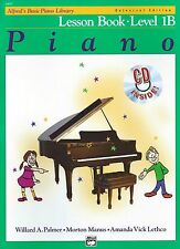 ALFRED'S BASIC PIANO LIBRARY - LESSON BOOK - Level 1B with CD **LATEST EDITION**