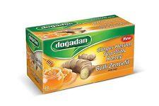 Dogadan Ginger with Honey Premium Herbal Tea ( 4 Boxes / 80 teabags ) UK Seller
