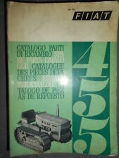 Fiat tracteur 455 chenillard 1968 : catalogue de pièces