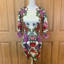 H&M Floral Dress 3/4 Sleeve Midi XS