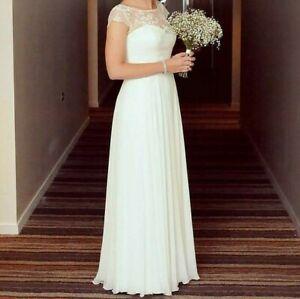 Paddington weddings Bertossi sweetheart chiffon lace wedding dress size 10