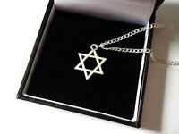 UK Seller Lovely Silver Plated Chain or Cord Star of David Pendant Necklace