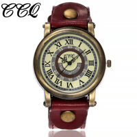 CCQ Fashion Women's Casual Quartz Leather Band Strap Watches Analog Wrist Watch
