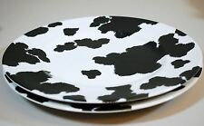 "*Set of 2* Cowhide by Nick & Nora - 10 3/4"" Dinner Plates - 222 Fifth Cow Print"