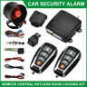 Car Security Alarm System Immobiliser Remote Central Locking Kit Keyless Entry