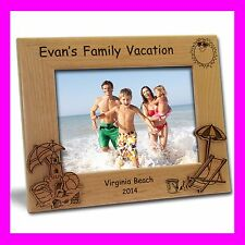 4x6 PERSONALIZED CUSTOM ENGRAVED BEACH VACATION PICTURE FRAME GREAT GIFT