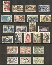 France #639/704, 1950-1953 Commemorative & Pictorial Issues, Cancelled / Used