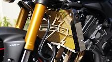 "cache / Grille de radiateur inox poli Yamaha FZ8 ""Eclair"" + grillage or"