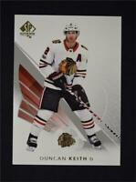 2017-18 17-18 UD Upper Deck SP Authentic Base #9 Duncan Keith