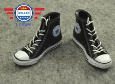 1/6 scale Converse Chuck High Top BLACK sneaker shoes for 12'' FEMALE figure