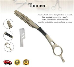 Hairdressing Thinning Razor Hair Feather Style Layer Sharper Cutting Comb STEEL