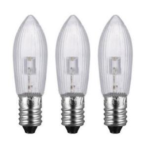 3x LED 10V-55V Candle MES E10 Miniature Edison Screw C2 Decoration Light Bulb