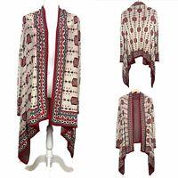 Divided H&M Aztec Print Open Front Cardigan Boho Womens Size M Medium