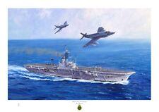 HMS CENTAUR Fine Art A3 size print from an original painting by Ross Watton