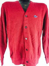 Vintage Izod Sweater 1980s Izod Of London Cardigan Burgundy Nirvana Grunge