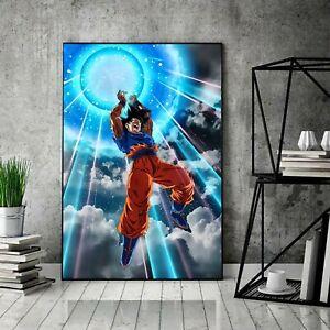 Dragon Ball Z Print Art Poster Inspired By Dragon Ball Z, Ultra Instinct Goku