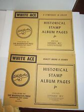 Nos - White Ace Stamp Album Pages Supplement Bp1 - Bp4 & (3) Bp-10 For 1989