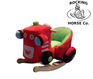 NEW Plush Red Tractor Childs Rocker Rocking Chair with Sound Effects - 1 Year