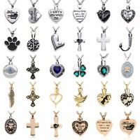 New Silver Chain Cremation Jewelry Ash Urn Necklace Memorial Keepsake Pendant