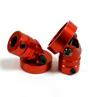 HY00339R 1/10 Scale RC Invisible Magnetic Body Shell Mount Posts Alloy Red x2