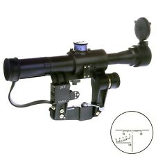 POSP 4x24 M. Sniper Rifle Scope. BelOmo. Russian Side Mount. 1000m. Combloc.