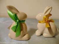 Figur Hase 2er Set Keramik ✿ Hasen ✿ Easter Figurine SET Objet de Pâques