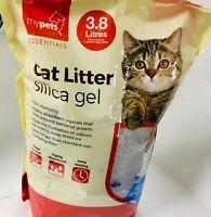 Silica Gel Cat Litter Anti - Bacterial , Ultra-Hygienic & Non-Clumping 3.8 L