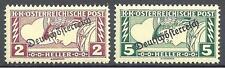 Austria 1919 Sc# QE5-6 set Special handling stamps MNH