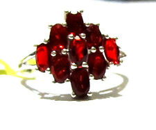 Red Mexican Cherry Fire Opal Oval Cocktail Ring, 925 Silver, Size 7, 1.33(TCW)