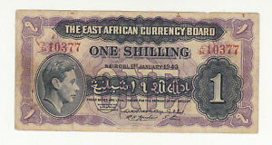 East Africa 1 shilling 1943 circ. @ low start