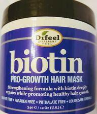 Biotin Hair Mask Difeel Pro Growth, Color Safe, Strength Hair Grow Large 12 oz.