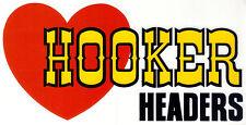 "Large Retro Hooker Headers 8"" sticker / decal - drag racing hot rod vintage"