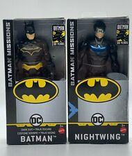 "Batman & Nightwing Batman Missions 80 Years 6"" Action Figures Mattel Toy Set"