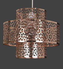 Servlite LMB313 Tiara Two Tier Pendant Copper With Etched Detail